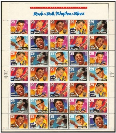 Elvis in Rock 'n Roll-Rhythm and Blues Stamps