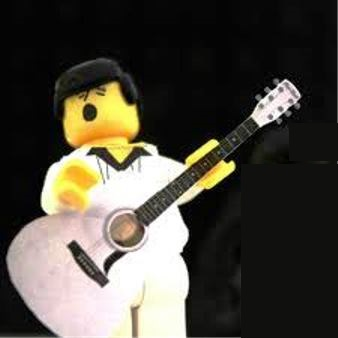 Lego Elvis Minifig With Guitar