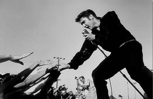 American Cool Photo - Elvis Peforming at Tupelo 1956