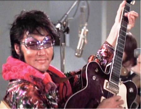 Elvis Clowning Around During Filming TWTII
