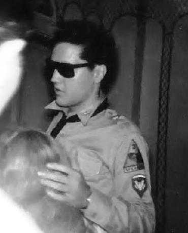 Elvis in Army Sunglasses