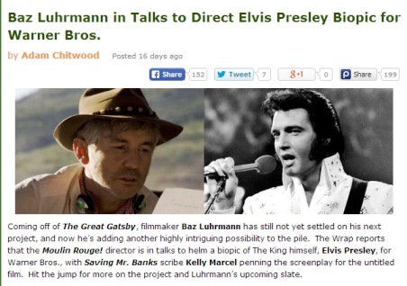 Buz Luhrmann To Direct Elvis Movie