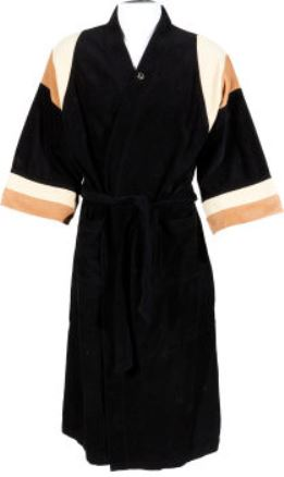 Elvis' Black Velour Bathrobe