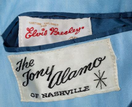 Elvis Blue Washed Denim Suit Label