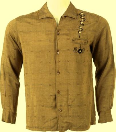 Elvis' Embroidered Long-Sleeved Shirt
