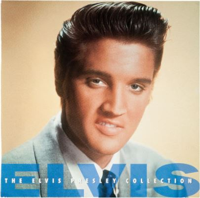 Elvis in Light Blue Suit on Album Cover