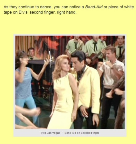 Bandaid on Elvis' Finger