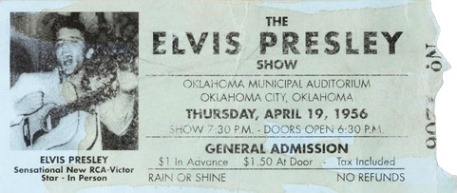 Elvis Concert Ticket