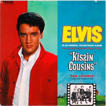 Elvis Wearing Red Shirt on Kissin' Cousins Album