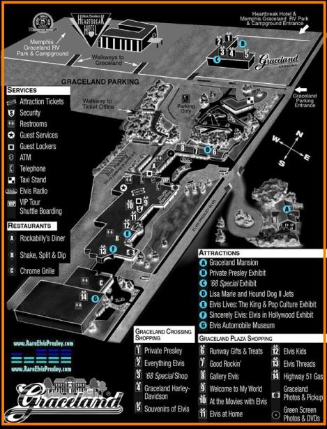 Map of Graceland