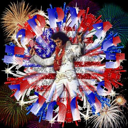 Elvis 4th of July Kaleidoscope