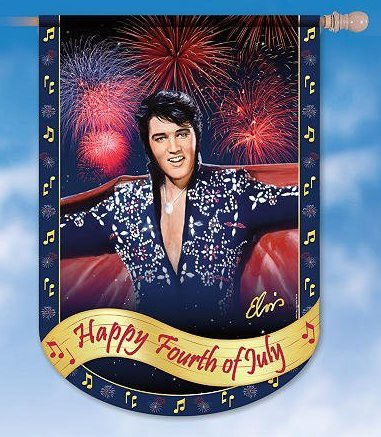 Elvis 4th of July Penant Flag