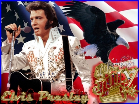 Elvis Red and Gold 4th of July