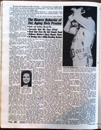 Elvis in April 26, 1977 National Enquirer