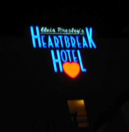 Heartbreak Hotel Sign