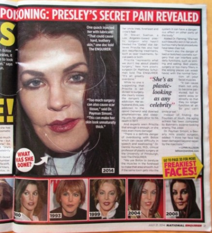 Priscilla in July 21, 2014 National Enquirer - 2