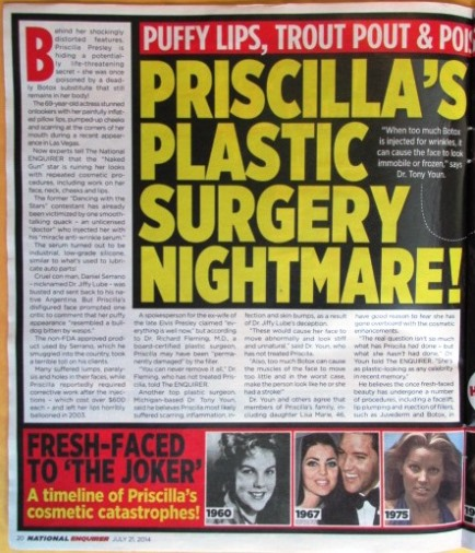 Priscilla in July 21, 2014 National Enquirer