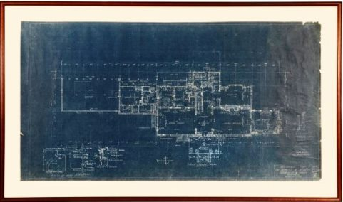 Blueprints for Graceland's First Floor