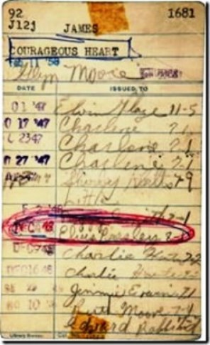 Elvis' Library Card from 2010 Heritage Auction