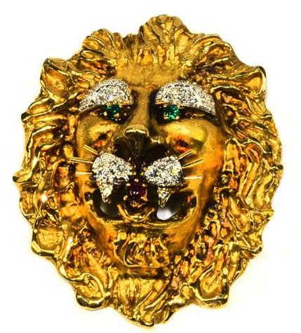 Elvis' Lion Head Pendant Pendant