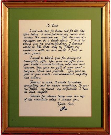 Elvis' Personal Message Christmas Gift to His Father