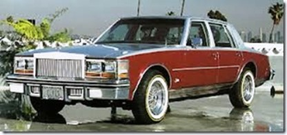 Photo of Elvis' 77 Caddy for 1991 Auctions