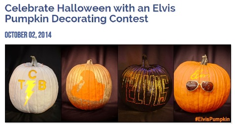 Announcement of Elvis Pumpkin Decorating Contest