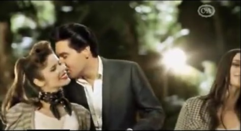 Elvis Kissing Dancinging Girls in Ad