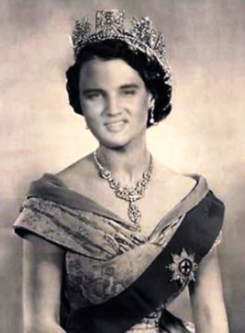Queen Elisabeth and Elvis Morphed