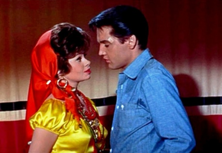 Elvis and Sue Anne Langdon as Madame Mijanou in Roustabout