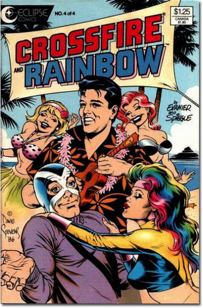 Elvis on Crossfire Rainbow Comic
