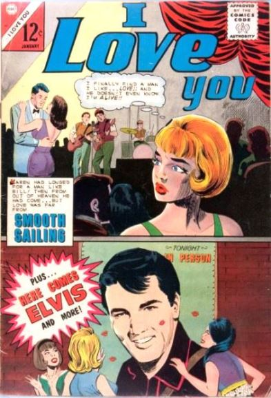 Elvis on I Love You Comic Book