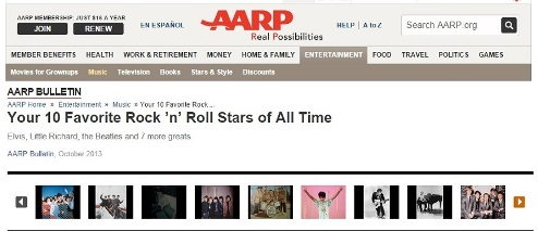 AARP  - Ten Favorite Rock and Roll Stars
