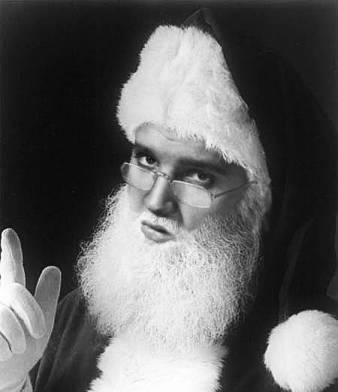 Black and White Elvis Santa