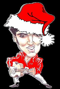 Cartoon Elvis Santa