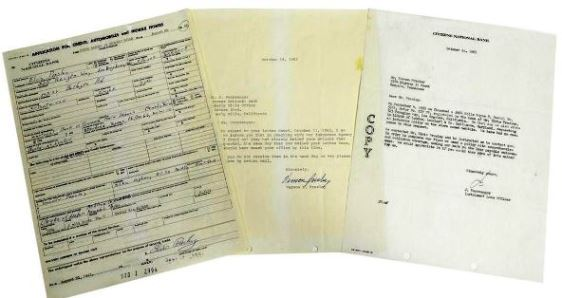 Application for Credit for a 1964 Rolls Royce Signed by Elvis