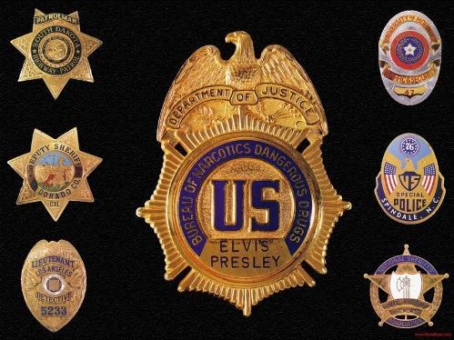 Elvis' Law  Enforcement  Badge Collection