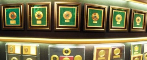 Elvis' Gold Records at Graceland