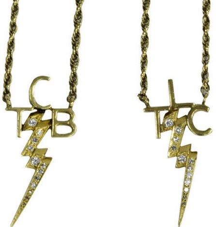Elvis' Gold and Diamond TCB and TLC Necklaces