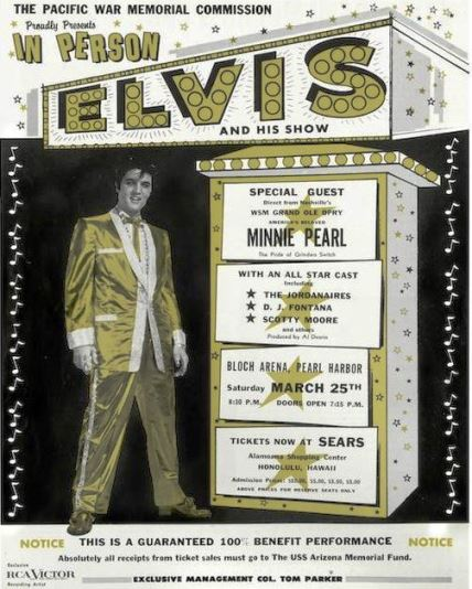Elvis - U.S.S. Arizona Memorial Fund Original Flyer