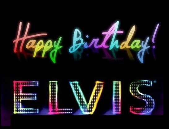 Multi-color Happy Birthday Elvis