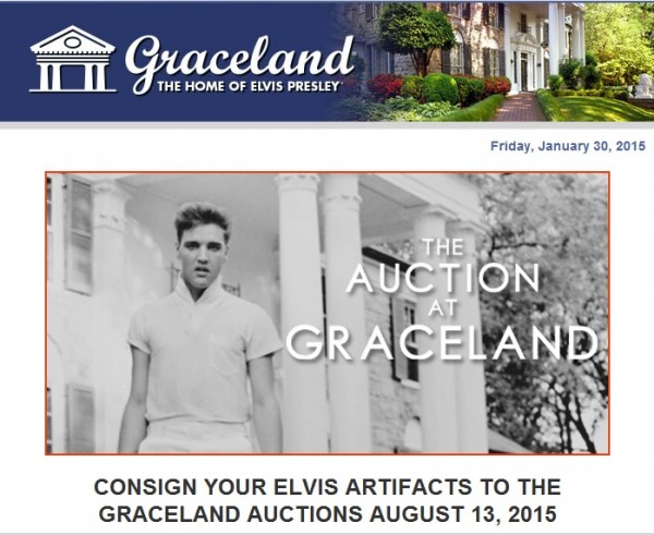 Solicitation for next year's Auction at Graceland