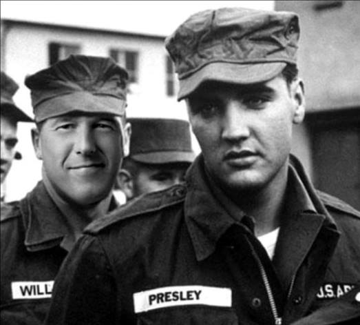 Brian Williams and Elvis in the Army