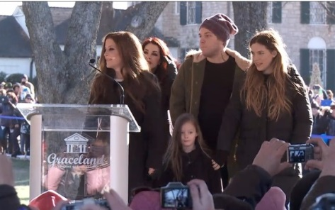 Family at Graceland, Jan 8, 2015