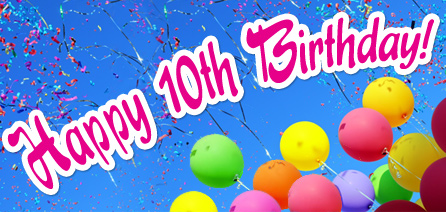 Happy 10th Birthday Balloons 2