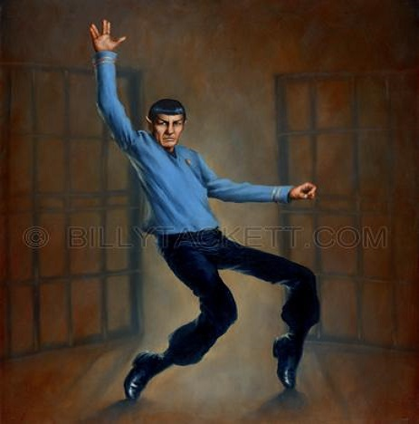 Spock Doing Jailhouse Rock Move