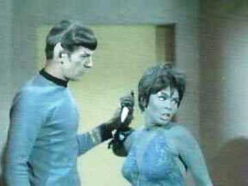 Spock and Yvonne Craig