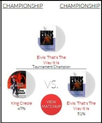 Elvis Movie Madness Championship Brackets