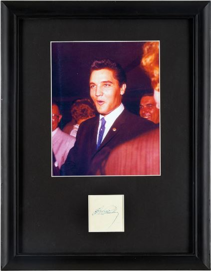 Elvis Signature and Color Photo