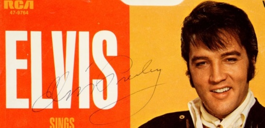 Elvis Suspicious Minds Autograph - Blown Up